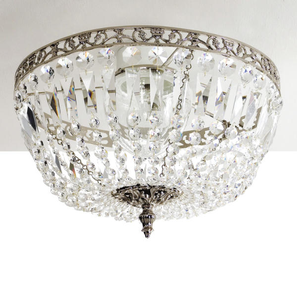 Chrome crystal bathroom lighting krebs lancelot 418 nickel stunning chandelier bathroom - Bathroom crystal chandelier ...