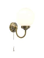 Dar Barclay Antique Brass Wall Light