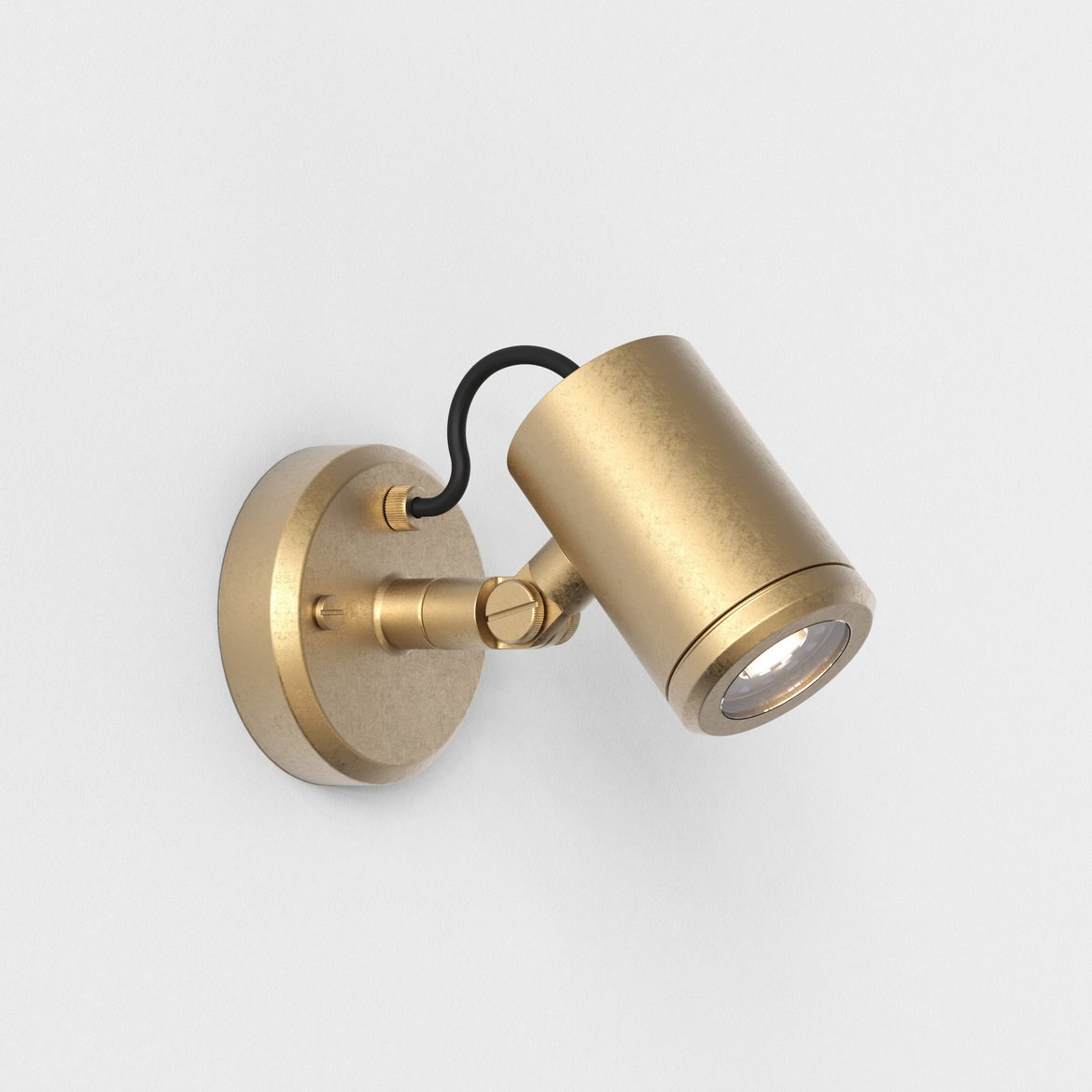 Astro Lighting 1375008 Jura Single Spot Brass Wall Light