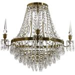 Krebs Empire Nobel Cognac Crystal Drops Bathroom Chandelier