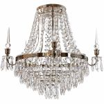 Krebs Empire Nobel Nickel Crystal Drops Chandelier