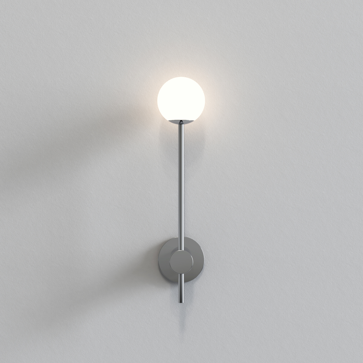 Astro Lighting 1424002 Orb Single Polished Chrome Wall Light
