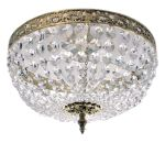 Krebs Plafond 36cm Polished Brass Octagon Crystal Chandelier